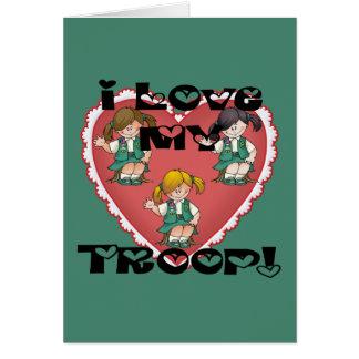 Junior I Love My Troop Heart Card