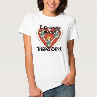 Junior I Love My Troop Heart T Shirt