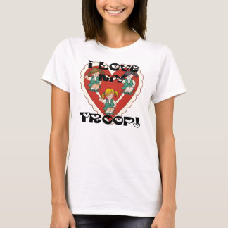Junior I Love My Troop Heart T-Shirt