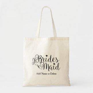 Junior Jr. Bridesmaid Tote Budget Canvas Tote Bag