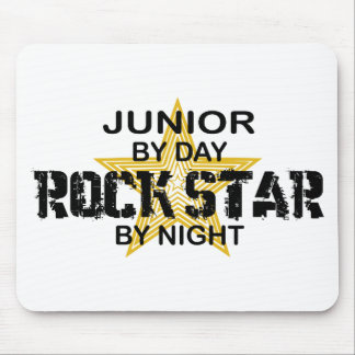 Junior Rock Star by Night Mousepads