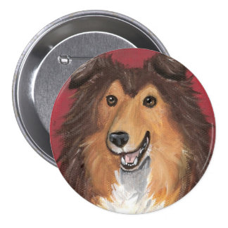 Junior Sable Sheltie by Amy Bolin Button