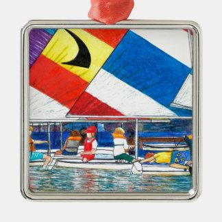 junior sailing race christmas ornament