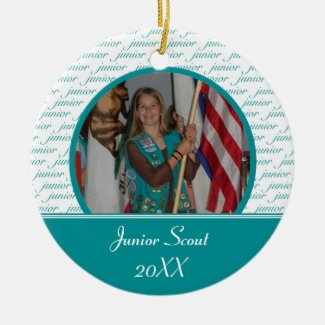 Junior Scout Photo Ornament