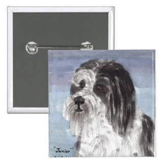 Junior the Bearded Collie Button