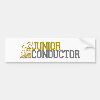 Junior Train Conductor Bumper Sticker