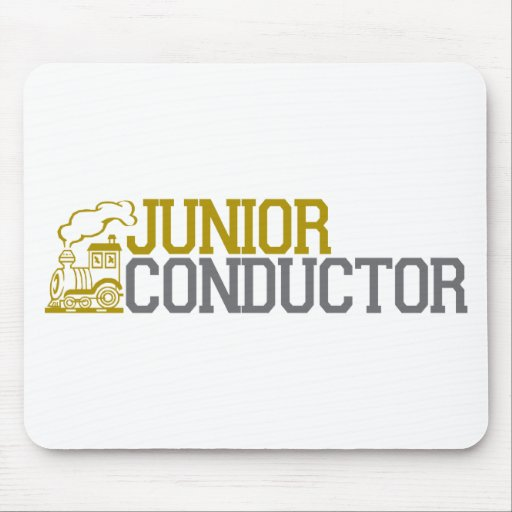 Junior Train Conductor Mouse Pads