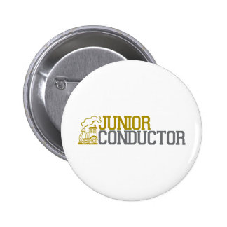 Junior Train Conductor Pinback Button