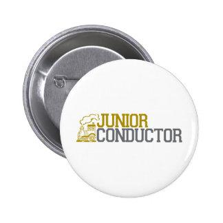 Junior Train Conductor Pinback Button