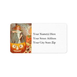 Junior Witch Making Brew Vintage Address Label