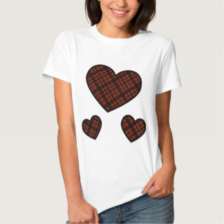 Juniors Fashion Rad Plaid Hearts T-Shirt
