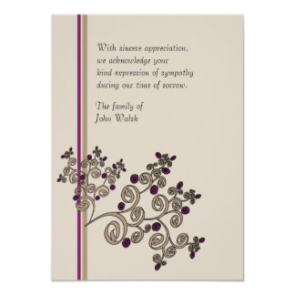 Juniper Berries - Bereavement Thank You Notecard