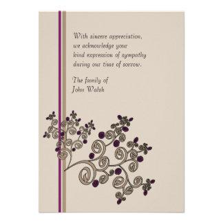 Juniper Berries - Bereavement Thank You Notecard Personalized Invitations
