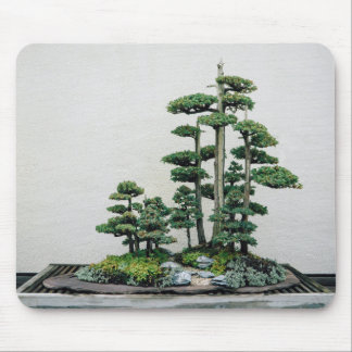 Juniper Bonsai Forest Mouse Pad