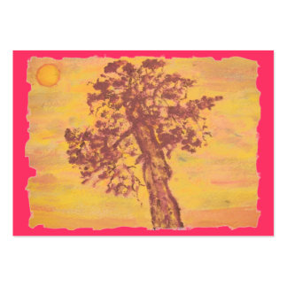 juniper tree sunset large business cards (Pack of 100)