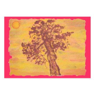 juniper tree sunset large business card