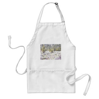 Junipers and Lava Rock in Watercolor Adult Apron