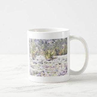 Junipers and Lava Rock in Watercolor Coffee Mug