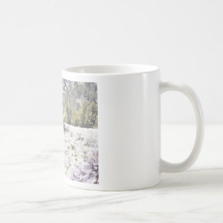 Junipers and Lava Rock in Watercolor Classic White Coffee Mug