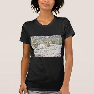 Junipers and Lava Rock in Watercolor T Shirt