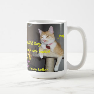 Junipurr helen keller quote mug with multiple pics