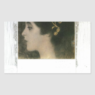 Junius by Gustav Klimt Rectangular Sticker