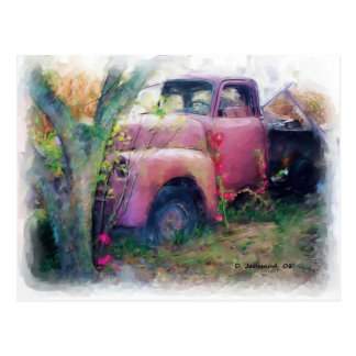 Junk 48' Chevy Truck Post Card