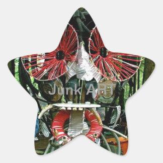 Junk ART Star Stickers