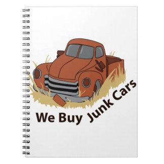 JUNK CARS SPIRAL NOTEBOOK