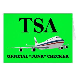 Junk Checker for TSA Dark Greeting Card