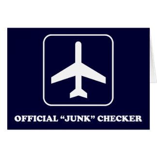 Junk Checker for TSA Light Greeting Card