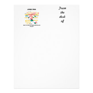 Junk DNA Seat Of Crucial Gene-Controlling Activity Letterhead