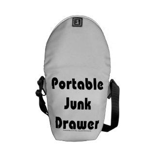 Junk drawer messenger bag