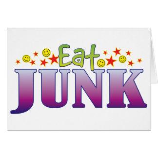 Junk Eat Greeting Card