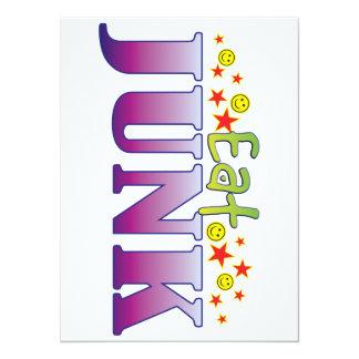 Junk Eat 5.5x7.5 Paper Invitation Card