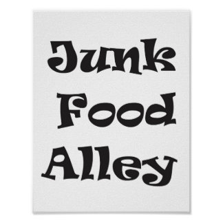 Junk Food Alley Poster