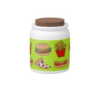 Junk food design candy jar
