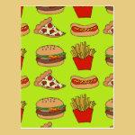 Junk food design postcard