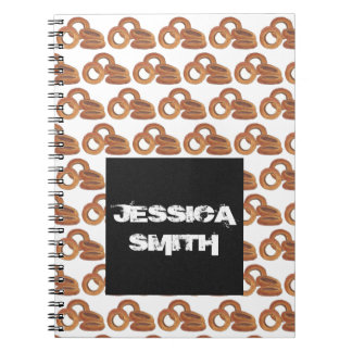 Junk Food Foodie Personalized Fried Onion Rings Spiral Notebook