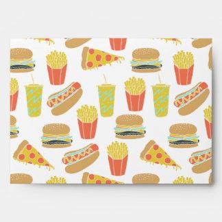 Junk Food - Hot Dogs Burgers Fries / Andrea Lauren Envelope