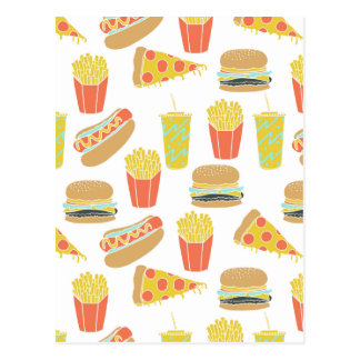 Junk Food - Hot Dogs Burgers Fries / Andrea Lauren Postcard