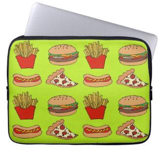 Junk food laptop sleeve
