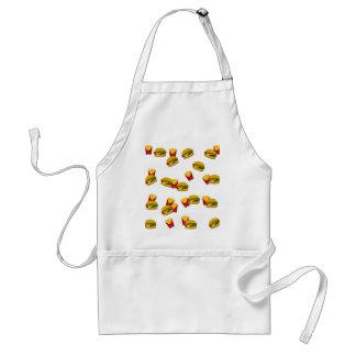 Junk food pattern adult apron