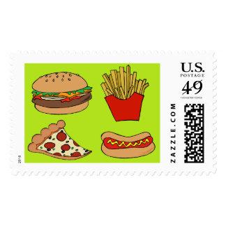 Junk food postage stamp
