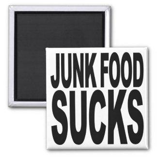 Junk Food Sucks 2 Inch Square Magnet