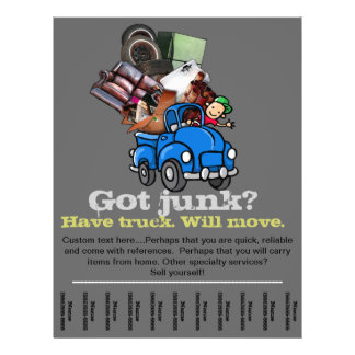 Junk & Garbage Removal Business adverting flyer