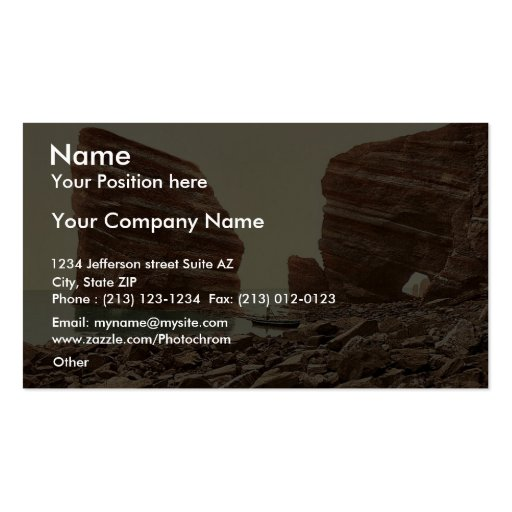 Junk-Gat, Helgoland, Germany classic Photochrom Double-Sided Standard Business Cards (Pack Of 100)