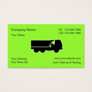 Junk HaulingCleanup Business Cards