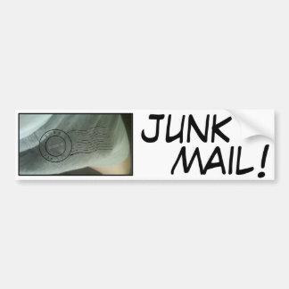 JUNK MAIL! - Anthony Weiner Car Bumper Sticker