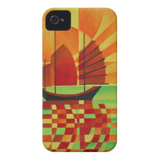 Junk on Sea of Green Cubist Abstract iPhone 4 Cover